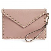 Medium Rockstud Leather Envelope Pouch