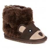 'Little Creatures - Brown Bear' Merino Wool Boot