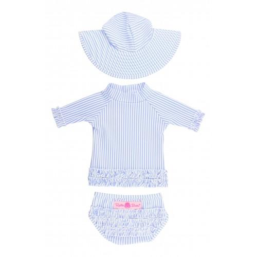 26NSHIRT Lobster White Little Girls Short Sleeve Cotton Shirts