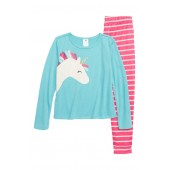 Unicorn Fitted Two-Piece Pajamas