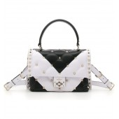 Bicolor Candystud Lambskin Top Handle Satchel