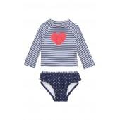 52f68a1de8e Ruffle Heart Two-Piece Rashguard Swimsuit