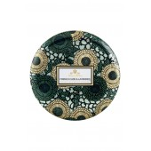 Japonica French Cade Lavender Three-Wick Decorative Tin Candle