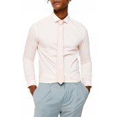 Skinny Fit Stretch Button-Up Shirt