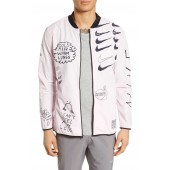 x Nathan Bell Water Repellent Printed Running Jacket