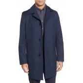 BOSS 'Dais' Trim Fit Cotton Blend Raincoat
