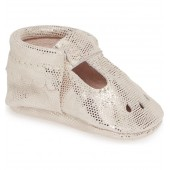 Metallic Dots Perforated Mary Jane