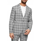 Check Slim Fit Suit Blazer