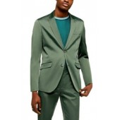 Slim Fit Satin Suit Jacket