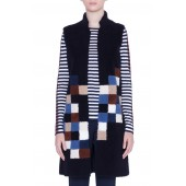 Pixel Reversible Genuine Shearling Vest