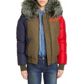 Mr and Mrs Italy Armstrong Waterproof Down Bomber Jacket with Genuine Fox Fur Trim