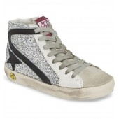Slide Glitter High Top Sneaker