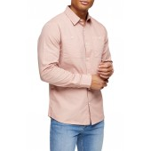 Slim Fit Ripstop Button-Up Shirt