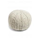 Chunky Knit Pouf