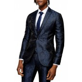 Paris Skinny Fit Jacquard Suit Jacket