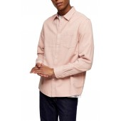 Twill Slim Fit Button-Up Shirt