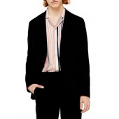Slim Fit Solid Jersey Blazer