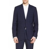 Chambers Plaid Wool Trim Fit Suit Separates Sport Coat