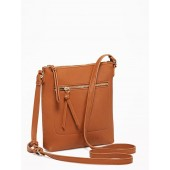 Faux-Leather Swingpack Bag for Women