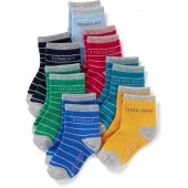Day-of-the-Week 7-Pack Socks for Toddler Boys & Baby