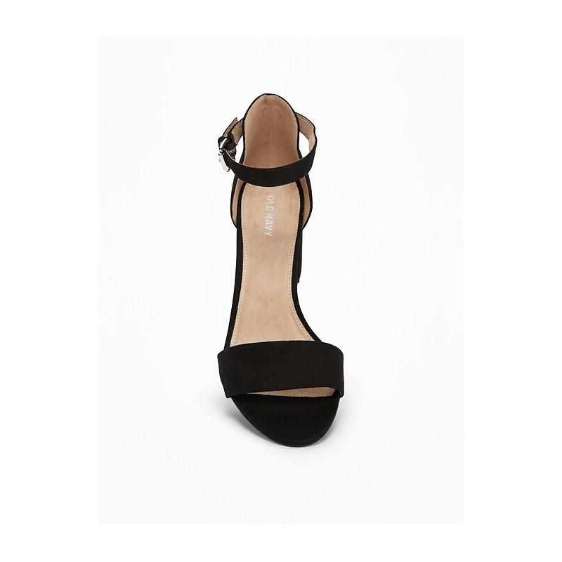 Sueded Block-Heel Sandals for Women