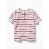Striped French-Terry Henley for Toddler Boys