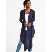 Maternity Extra-Long Open-Front Nursing Sweater