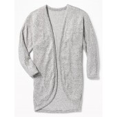 Open-Front Cocoon Sweater for Girls