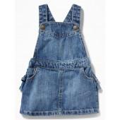 Denim Ruffled-Back Skirtall for Baby