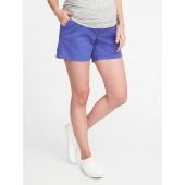 Maternity Full-Panel Twill Shorts (5