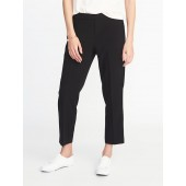 Mid-Rise Pull-On Straight Pants for Women