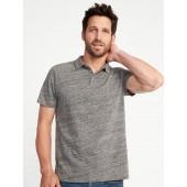 Soft-Washed Slub-Knit Polo for Men