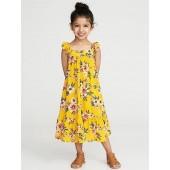 Printed Ruffle-Strap Sundress for Toddler Girls
