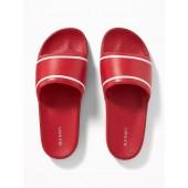 Faux-Leather Slide Sandals for Men