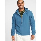 Water-Resistant Nylon-Blend Stowaway-Hood Jacket for Men