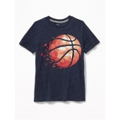 Graphic Jersey Crew-Neck Tee for Boys