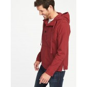 Water-Resistant Pullover Utility Jacket for Men