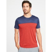 Go-Dry Color-Block Tee for Men