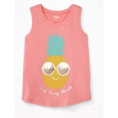 Graphic Muscle Tank for Toddler Girls