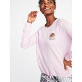 Loose-Fit Raglan Sweatshirt for Women