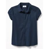 Uniform Button-Front Shirt for Girls