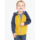 Raglan Zip Hoodie for Toddler Boys
