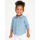 Chambray Shirt for Toddler Girls