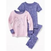 Constellation-Print 3-Piece Sleep Set for Toddler Girls