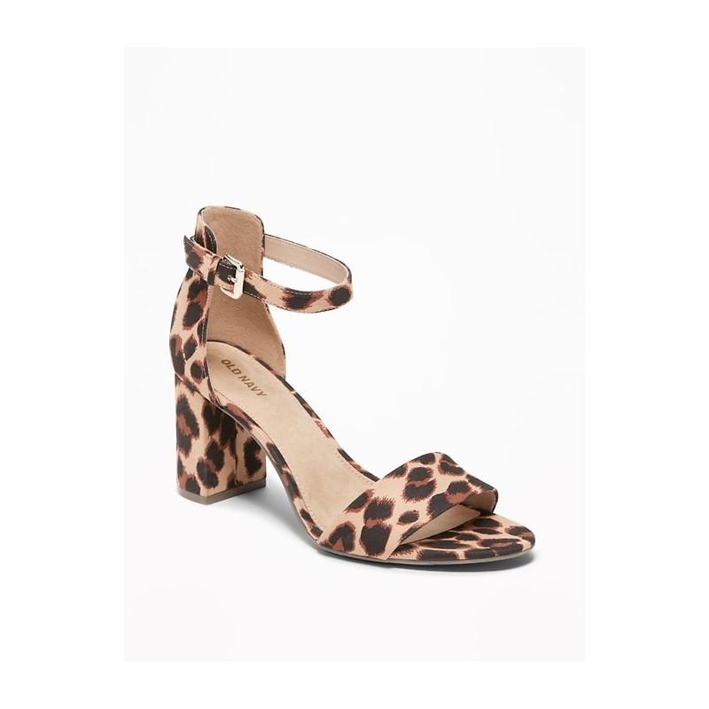 Faux-Suede Block-Heel Sandals for Women
