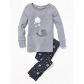 Bear-Print Sleep Set for Toddler Boys