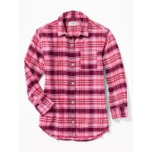 Plaid Boyfriend Tunic Shirt for Girls