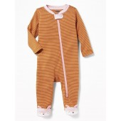 Footed Fox-Critter One-Piece for Baby