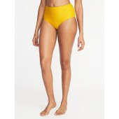 Mid-Rise Textured-Stripe Swim Bottoms for Women
