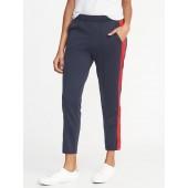 Color-Block Side-Stripe Track Pants for Women